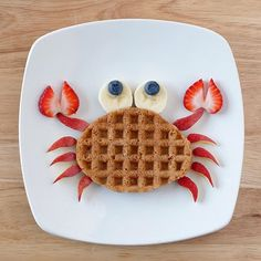 Desayuno para niños Breakfast for children Cute Snacks, Cute Food, Good Food, Yummy Food, Snacks Ideas, Kid Snacks, Fun Snacks For Kids, Party Snacks, Toddler Meals