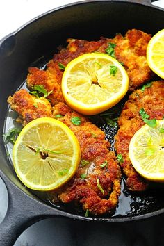 Breaded Chicken Piccata | Grandbaby Cakes | Fried Chicken Recipes Page