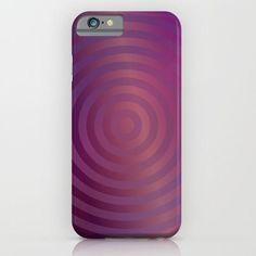 Purple concentric circles iPhone & Samsung Galaxy case