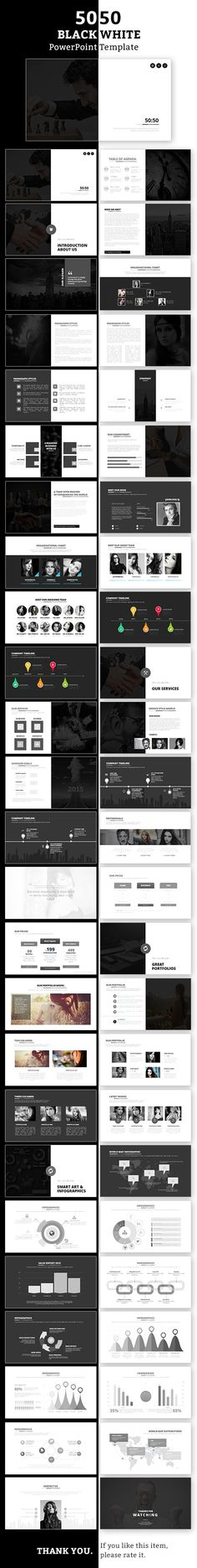 50:50 PowerPoint Design Tempalte #slides Download: http://graphicriver.net/item/5050-powerpoint-template/12948281?ref=ksioks