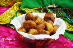Gulgule Recipe/ Sweet Mini Doughnuts Enjoy rainy day with hot #gulgale  directly out of wok #NorthIndian #yummy #doughnuts #traditional #rainyday #desiSweet #sawanrecipes #monsoon  Recipe at: www.annapurnaz.in