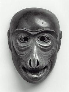 Kyogen mask of the Saru type  狂言面 猿  Japanese, Edo period, 17th century, Paulownia wood, MFA