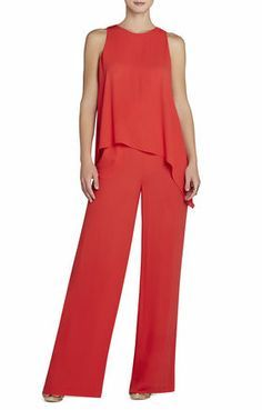 bcbg tote bag, Clearance Hadli Sleeveless Red Draped Jumpsuit Cheap jacket,New York, bcbg careers Official UK Stockists Red Jumpsuit, Bcbg Dresses, Blouse Styles, Mode Inspiration, Fashion Pants, Women's Fashion, Dress Patterns, Pants For Women, Women Wear