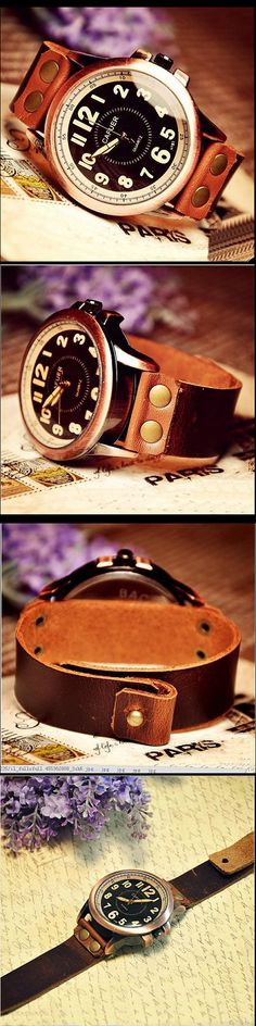 Stan Vintage Watches | Handmade Leather Mens Wrist Watch (WAT0002-BLACK) | Online Store Powered by Storenvy