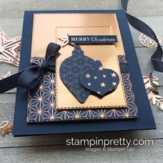 Simple Saturday: Brightly Gleaming Christmas Card | Stampin Pretty
