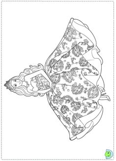 Barbie Princess Coloring page for girls – Dresses