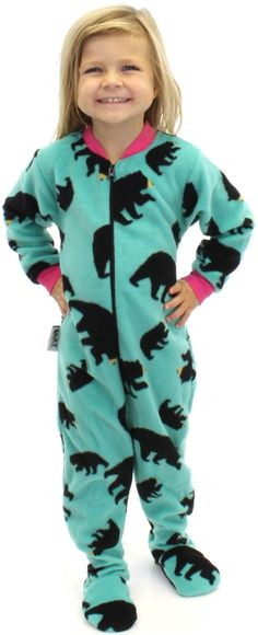 Our new footed pajamas are here to wrap you in cozy comfort from head to toe. Made from super soft Polar Fleece. Footies feature a zipper from foot to neck, and if a little further ventilation is need
