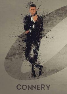 Movie And Tv Splatter Effect Artwork Movies poster prints by Stewart Wood James Bond Movie Posters, James Bond Movies, Tom Holland, Estilo James Bond, 007 Casino Royale, Bond Series, Series Movies, James Bond Party, George Lazenby