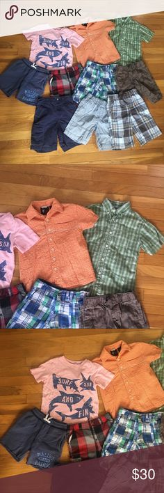 Lot of boys size 5 spring/summer clothing Awesome deal for all of these items.  All size 5.  Great condition!  Perfect for any little boy!!! Gymboree Shirts & Tops Button Down Shirts