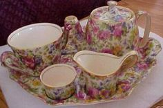 Royal Winton Summertime Chintz breakfast set