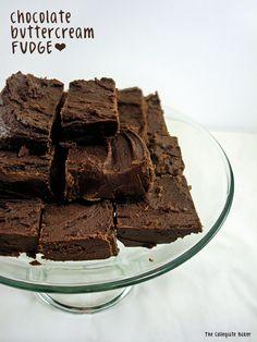2 Ingredient Chocolate Buttercream Fudge byThe Collegiate Baker!