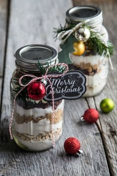 Cranberry white chocolate cookies in a jar are a homemade gift sure to please. Add custom tags for a whimsical feel.