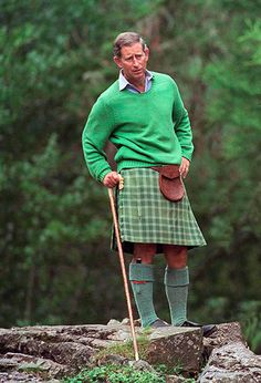 Prince Charles. He has many kilts, but I've rarely seen him in this tartan: MacDonald Lord of the Isles.