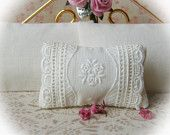 Dollhouse Miniature Shabby Chic Decorator pillow  - 1:12 scale