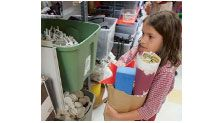 Arts & Scraps is a Detroit non-profit organization   that uses 28 tons of recycled industrial materials  to help 275,000 people of all ages and abilities   each year think, create and learn.