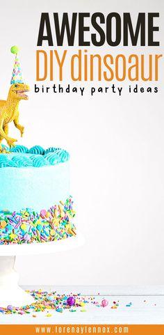 DIY Dinosaur Themed Birthday Party Ideas - Lorraine and Lennox, Dinosaur Birthday Party, Birthday Board, Diy Birthday, Elmo Party, Mickey Party, Birthday Party Invitations, Birthday Party Themes, Birthday Ideas, Birthday Decorations