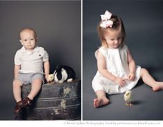Easter Photo Session Ideas -  Portrait Photography by Nicole Spikes via  iHeartFaces.com