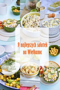 Moja smaczna kuchnia: 9 najlepszych sałatek na Wielkanoc Easter Recipes, New Recipes, Polish Easter, Sea Bass, Polish Recipes, Calzone, Quinoa, Salads, Paleo