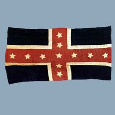 Flag of a Tennessee Regiment captured by the 1st Wisconsin on October 8, 1862 at the battle of Perryville.    This flag is in the holdings of the Wisconsin Veterans Museum.