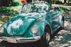 Gorgeous aqua bug - needs red seat covers! used to drive one of these!