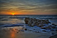 golden sunrise at coral cove park | Another Sunrise at Coral Cove Park