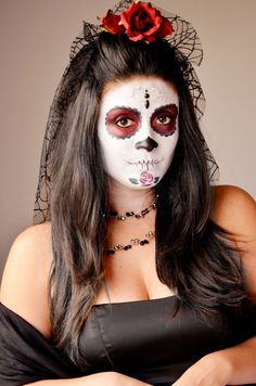 Day of the Dead Makeup Tutorial! @Laura Iesue one of these years we will do it :) haha
