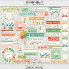 Another 365 Days | Word Art & Printables
