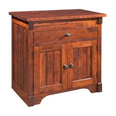 Nightstand With Drawer And Doors Yesterday River Mackenzie Dow available at Amish Oak and Cherry