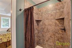 (VC96) Custom Azalea - Master Bathroom Custom Tile Lakeview Cedar Shower.