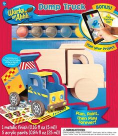 NEW Works of Ahhh... Wood Painting Kit # 21394 DUMP TRUCK Age 4+ #MasterpiecesPuzzleCompany