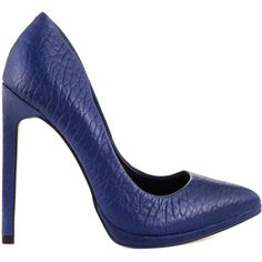 Aldo Women's Kristina - Medium Blue ($120) ❤ liked on Polyvore featuring shoes, blue, aldo shoes, pointy toe shoes, high heel pointed heel shoes, aldo footwear and pointed toe shoes