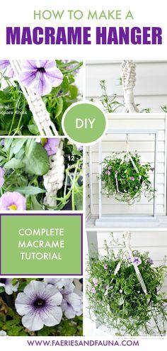 DIY macrame plant ha