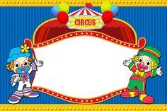 CONVITES ANIVERSÁRIO PARA IMPRIMIR - Convites Digitais Simples Circus Carnival Party, Circus Theme Party, Carnival Themes, Party Themes, Circus 1st Birthdays, First Birthdays, Diy And Crafts, Crafts For Kids, Barbie Theme