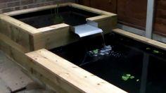 Raised Wooden Fish Pond - YouTube