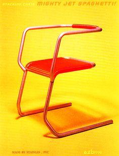 "azb1996  "" Mighty Jet Spaghetti "" stacking chair"
