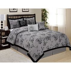 Free Shipping. Buy 7 Piece SUNRISE Floral Printed Clearance bedding Comforter Set Fade Resistant, Wrinkle Free, No Ironing Necessary, Super Soft, All Size Queen King CalKing Size (King, Gray) at Walmart.com