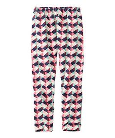 Look what I found on #zulily! Pink & Blue Geometric Livable Leggings #zulilyfinds