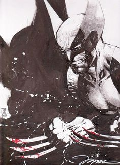 Original Comic Art titled Wolverine Bloodied Claws - Jim Lee, located in Blue's Other Comic Art Gallery Comic Book Characters, Marvel Characters, Comic Character, Comic Books Art, Book Art, Wolverine Art, Logan Wolverine, Jim Lee Art, Marvel Comics Art