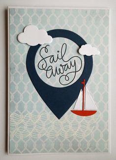 P*skarteluhaaste #284 - väh. 3 eri stanssia  / SSS Card Kit July 2015 Sail away