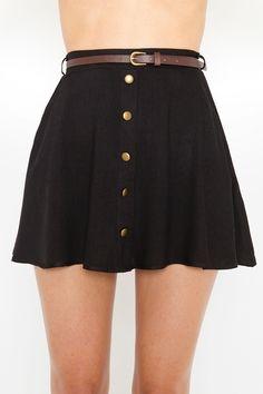 Sedona Belted Skirt - Black