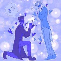 """""""You asked me why I brought you here, well the answer is that I needed to ask you something… Patton, the love of my life, will you marry me?"""" [[MORE]] (Tag list: Thomas Sanders, Logan Sanders, Sander Sides, Ship Art, South Park, In This World, Gay, Sketches, Fan Art"""