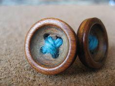 All Settled In Blue Button Earrings by UnbuttonedJoy on Etsy