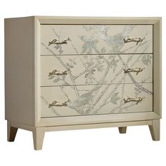 Perfect for stowing linens and throws in the guest room or seasonal apparel in your master suite, this 3-drawer poplar wood chest showcases a silver-hued bir...
