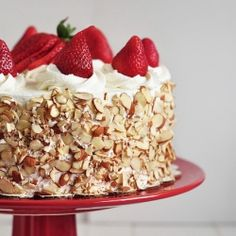 Classic dessert revamped with a homemade sponge cake and rum simple syrup. Loaded with fresh strawberries.