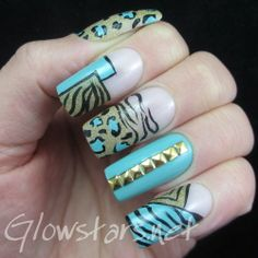 Everything you love will burn up in the light: A manicure using Misa Play It Cool, China Glaze Angel Wings, China Glaze For Audrey and Acryl...