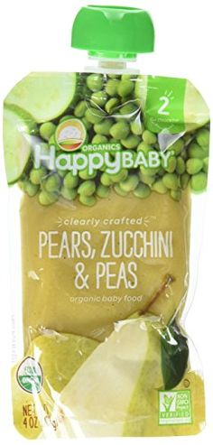 HappyBaby CC Organics Pears, Zucchini   Peas Organic Baby Food * Click on the image for additional details.