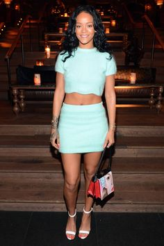 Rihanna mixed seasons perfectly in Kiko Mizuhara for Opening Ceremony and Prada at a recent Roc Nation luncheon. See her winning look here. Moda Rihanna, Rihanna Show, Rihanna Mode, Rihanna Looks, Rihanna Style, Rihanna Photos, Rihanna Baby, Rihanna Fenty, Jamie Chung