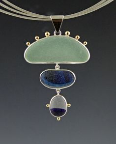 Bezel set English found sea glass sterling by StevePawloskiJewelry, $245.00