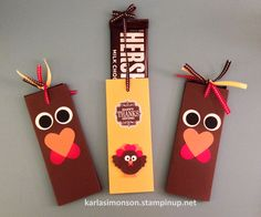 Hershey's Candy Bar Stampin' Up! Paper Sleeve. Happy Thanksgiving!