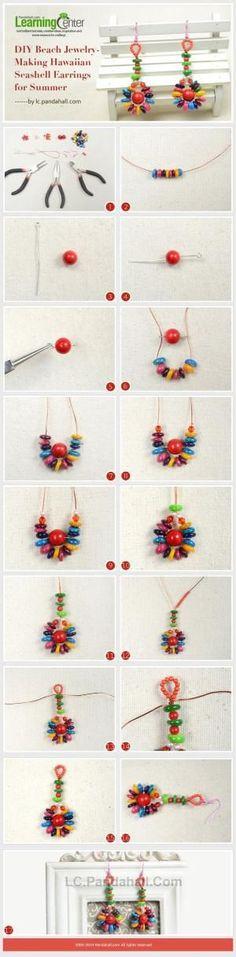 DIY Beach Jewelry-Making Hawaiian Seashell Earrings for Summer by Jersica